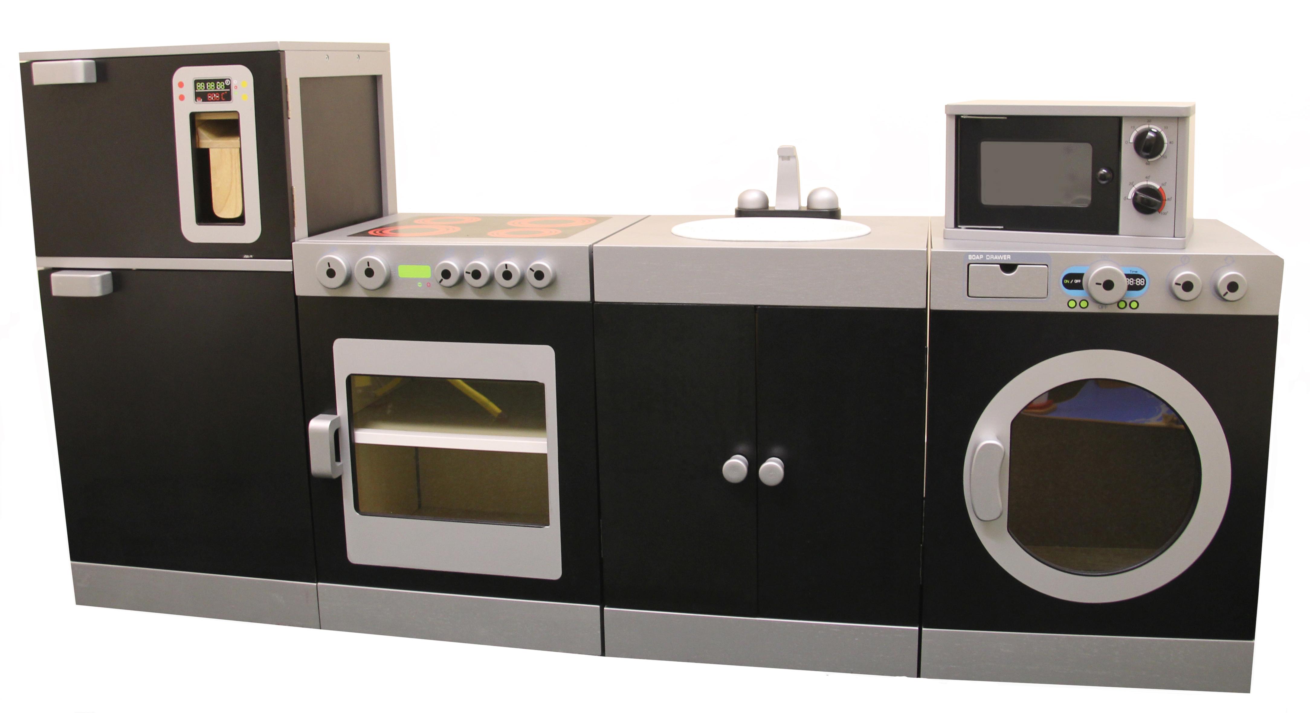 ... C4512   Black U0026 SIlver Kitchen ...